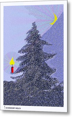 792 -  Lonely Candle  Metal Print by Irmgard Schoendorf Welch