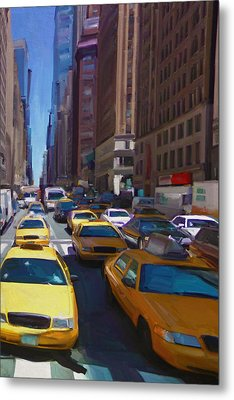 Metal Print featuring the painting 7th Avenue W36th Street Nyc by Nop Briex
