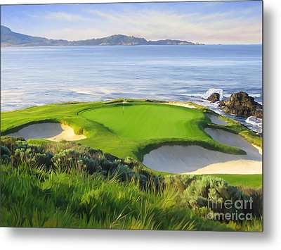 7th Hole At Pebble Beach Metal Print by Tim Gilliland