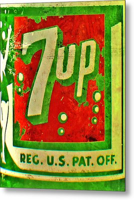 7up Metal Print by Jon Baldwin  Art
