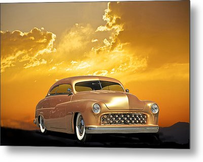 1950 Mercury Custom Metal Print by Dave Koontz