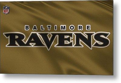 Baltimore Ravens Uniform Metal Print by Joe Hamilton