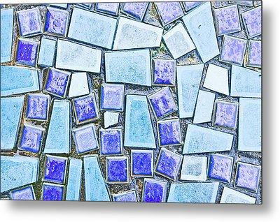 Blue Tiles Metal Print by Tom Gowanlock