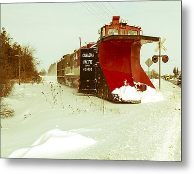 Canadian Pacific Snow Plow Metal Print by Nick Mares