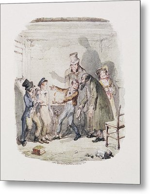 Cruikshank's Water Colours Metal Print by British Library