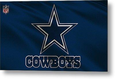 Dallas Cowboys Uniform Metal Print