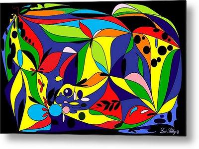 Metal Print featuring the digital art Design By Loxi Sibley by Loxi Sibley