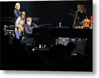 Elton John Metal Print by Jenny Potter