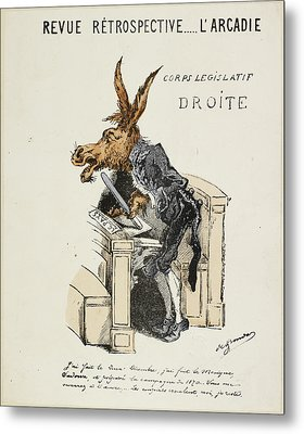 French Caricature Metal Print by British Library