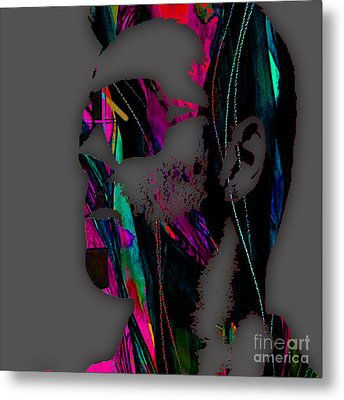 George Michael Collection Metal Print by Marvin Blaine