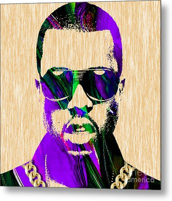 Kanye West Collection Metal Print by Marvin Blaine