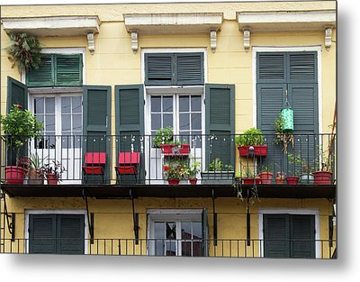 La, New Orleans, French Quarter Metal Print by Jamie and Judy Wild