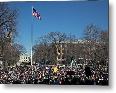 Legalisation Of Marijuana Rally Metal Print
