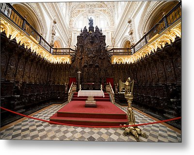 Mezquita Cathedral Interior In Cordoba Metal Print by Artur Bogacki