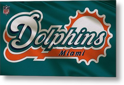 Miami Dolphins Uniform Metal Print by Joe Hamilton