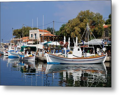 Molyvos Village Metal Print by George Atsametakis