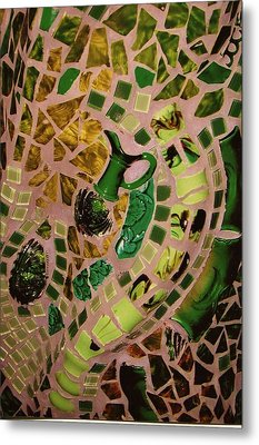 Mosaic Doorway Metal Print by Charles Lucas