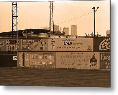 Old Time Baseball Field Metal Print by Frank Romeo