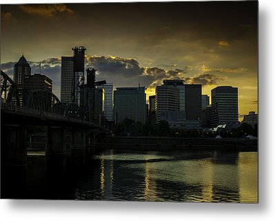 Portland Waterfront Metal Print