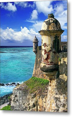 Puerto Rico, San Juan, Fort San Felipe Metal Print by Miva Stock
