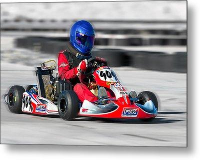 Racing Go Kart Metal Print