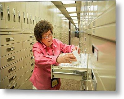 Salt Lake City Genealogical Research Metal Print