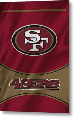 San Francisco 49ers Uniform Metal Print