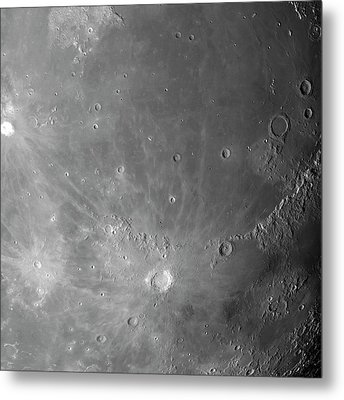 Surface Of The Moon Metal Print by Detlev Van Ravenswaay