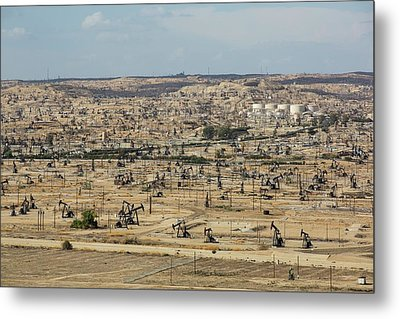 The Kern River Oilfield In Oildale Metal Print