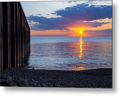 Metal Print featuring the photograph 8.16.13 Sunrise Over Lake Michigan North Of Chicago 001 by Michael  Bennett