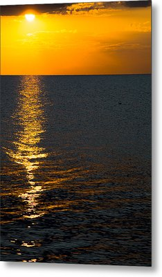Metal Print featuring the photograph 8.16.13 Sunrise Over Lake Michigan North Of Chicago 003 by Michael  Bennett
