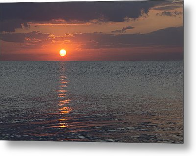 Metal Print featuring the photograph 8.16.13 Sunrise Over Lake Michigan North Of Chicago 004 by Michael  Bennett