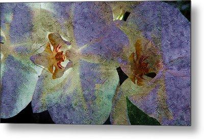 Lavender Orchids Metal Print