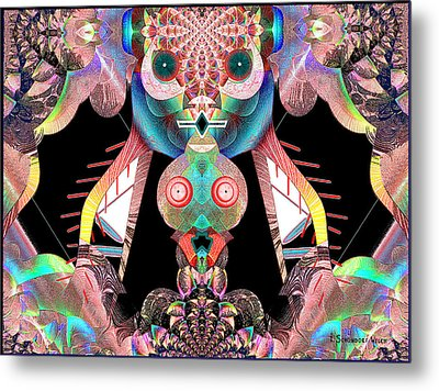 881 - The Great Insect Metal Print by Irmgard Schoendorf Welch