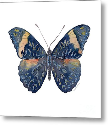 89 Red Cracker Butterfly Metal Print by Amy Kirkpatrick