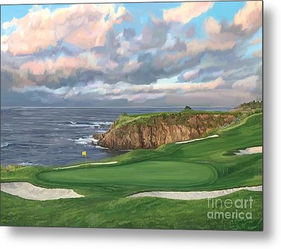 8th Hole Pebble Beach Metal Print by Tim Gilliland