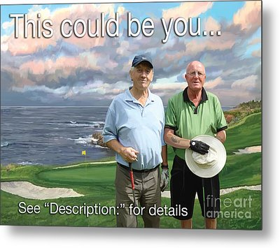 Metal Print featuring the painting 8th Hole Pebble Beach by Tim Gilliland