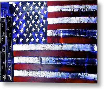9-11 Flag Metal Print by Richard Sean Manning