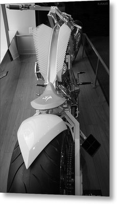 9/11 Memorial Bike In Black And White Metal Print by Rob Hans