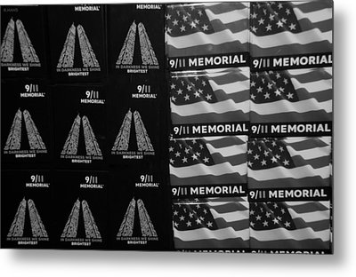 9/11 Memorial For Sale In Black And White Metal Print by Rob Hans