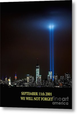9/11 Tribute Metal Print