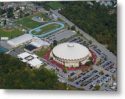 aerials of WVVU campus Metal Print by Dan Friend