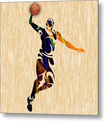 Basketball Metal Print
