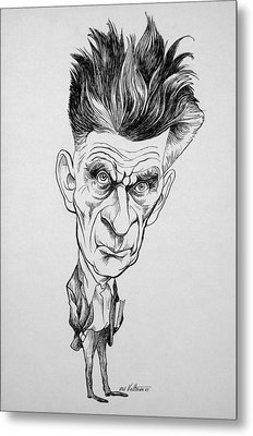 Caricature Of Samuel Beckett Metal Print by Celestial Images