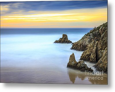 Campelo Beach Galicia Spain Metal Print by Pablo Avanzini