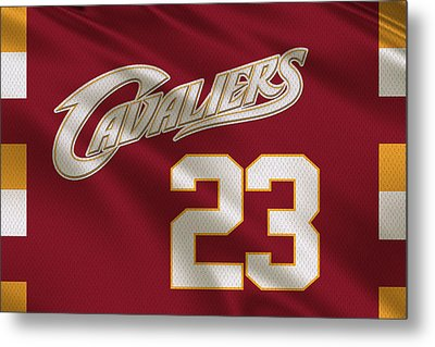 Cleveland Cavaliers Uniform Metal Print by Joe Hamilton