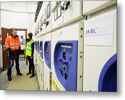 European Marine Energy Centre Metal Print by Ashley Cooper