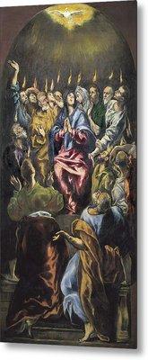 Greco, Dom�nikos Theotok�poulos, Called Metal Print by Everett