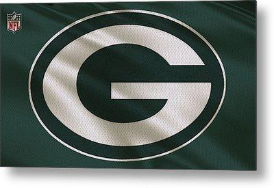 Green Bay Packers Uniform Metal Print by Joe Hamilton