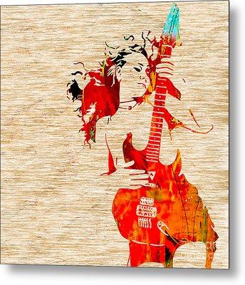Guitar Goddess Metal Print by Marvin Blaine